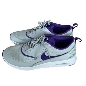 Nike Grey and Purple Air Max Thea